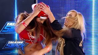 Carmella delivers her second assault of the night on Nikki Bella: WWE Talking Smack, Aug. 23, 2016