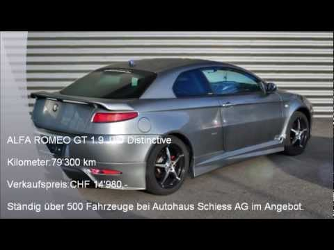 alfa romeo gt 1 9 jtd distinctive a 3505 autohaus schiess ag youtube. Black Bedroom Furniture Sets. Home Design Ideas