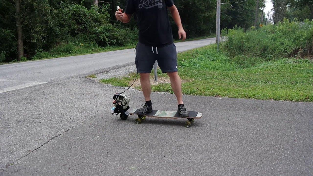 Motorized Skateboard  FunnyCat.TV