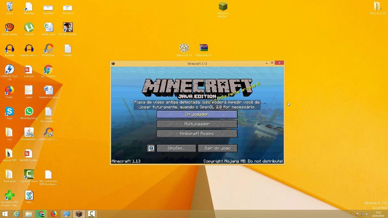 Como Baixar e Instalar Minecraft 1.13 Pirata e Original (Update Aquatic)