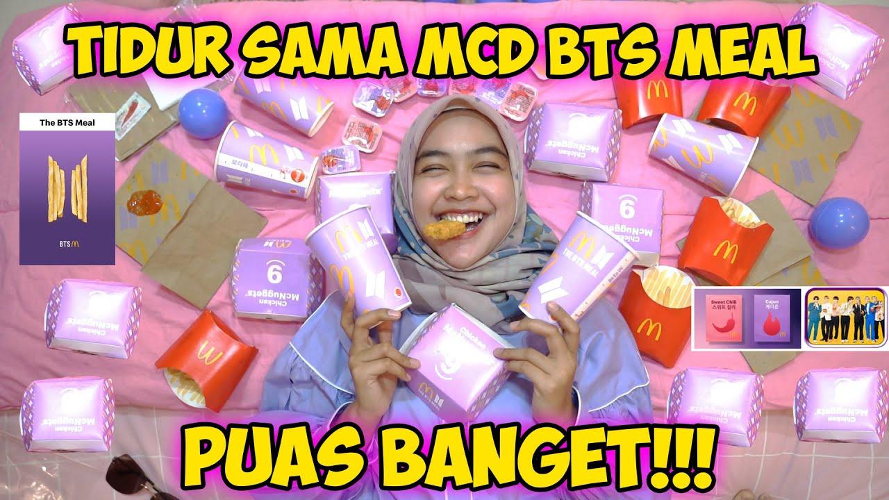 TIDUR SAMA MCD BTS MEAL BANYAK BANGET!!!