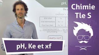 Chimie Terminale S : pH, Ke et xf