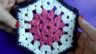 Вязание крючком Урок 245 Шестигранный мотив Crochet hexagon motif