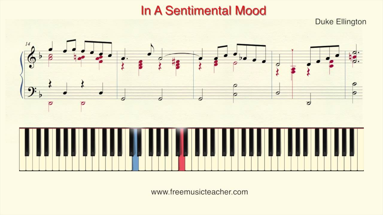 In A Sentimental Mood Sheet Music Ibovnathandedecker