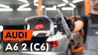 Kuinka vaihtaa takaluukun kaasujousi AUDI A6 (C6) -merkkiseen autoon [AUTODOC -OHJEVIDEO]