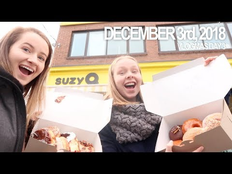 VLOGMAS DAY 3: EATING A DOUZEN DONUTS FROM SUZYQ