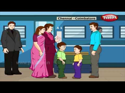 Railway Station | Day to Day Conversations in Hindi | Daily Activities For Kids | Activities Lessons