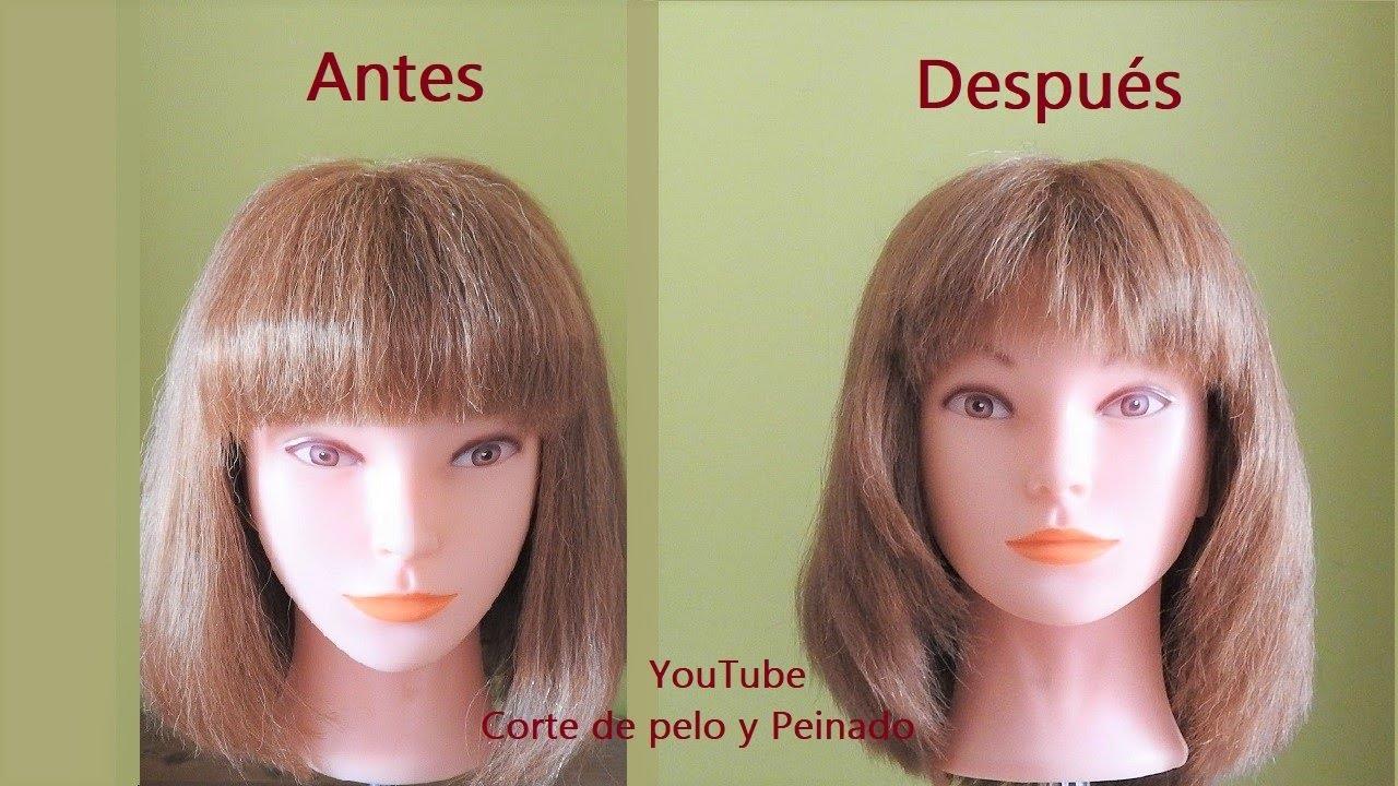 Cómo Cortar Un Flequillo Desfilado Y Lados Degrafilados A Capas Corte Flequillo Y Lado De La Cara Youtube