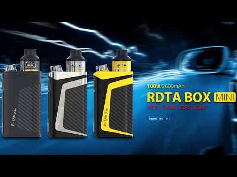 First Look at IJOY RDTA BOX Mini Full Kit (Firmware Upgradeable)