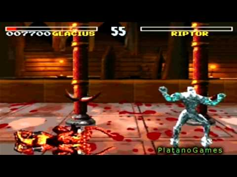 Killer Instinct - Glacius vs Riptor & Sabrewolf - SNES - Super Nintendo - HD - 동영상