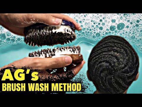 AG Brush Wash Method for Torino Pro & Royalty Brushes - Best Way To Wash Your 360 Wave Brushes!