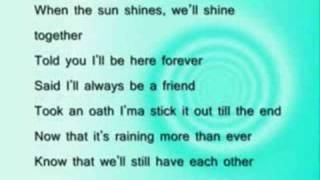 Rihanna ft. jay-Z umbrella lyrics - rslyrics