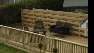 Timber Decking In Aberdyfi Wales, Uk. Examples Of Our Work