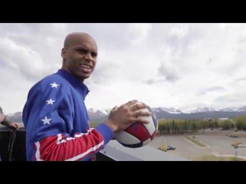 Alaska Trick Shots  Harlem Globetrotters  Hawk Thomas
