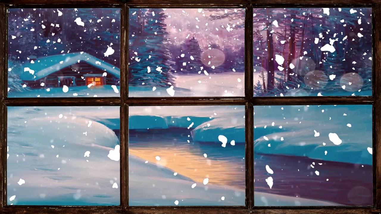 Christmas Music Virtual Winter Window Snow Scene 1 Of 3 Living Wallpaper With Festive Music Youtube