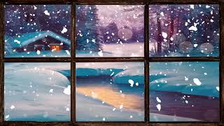 Christmas Music. Virtual Winter Window Snow Scene 1 Of 3 (living Wallpaper With Festive Music)