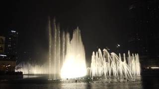 Burj Khalifa Fountain, Dubai Mall Fountain (2016-11-21) - Video 1