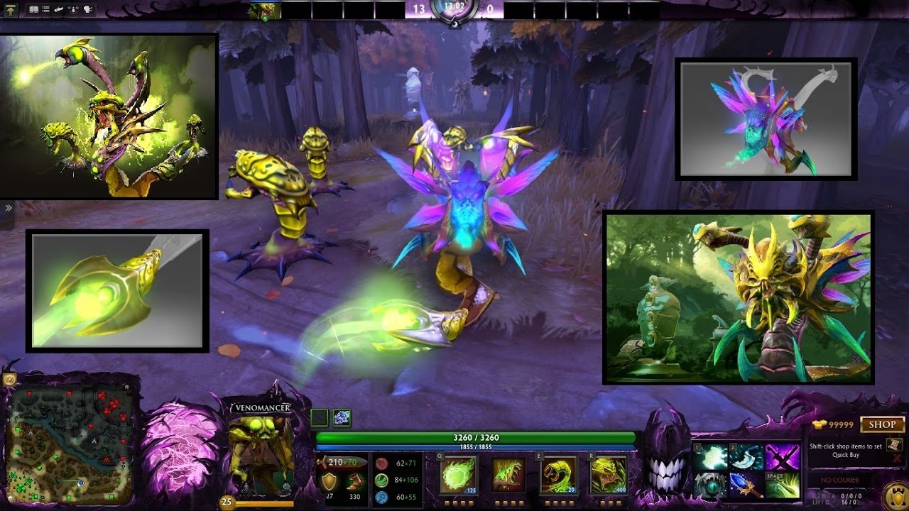 dota 2 venomancer mix set infused wings of the fatal bloom infused