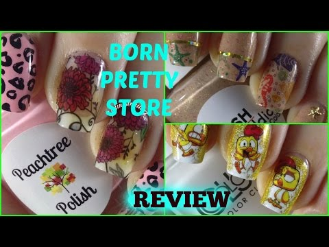 How To - Born Pretty Store Review W/3 Easy Manicures (Water Decals)✓