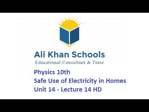 Physics 10th - Safe Use of Electricity in Homes - Unit 14 - Lecture ...