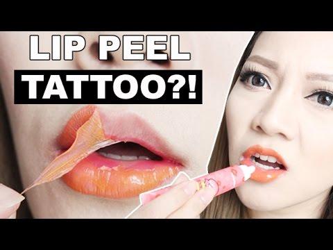 Peel Off Lip Tattoo? DOES IT WORK? Berrisom My Lip Tint Pack