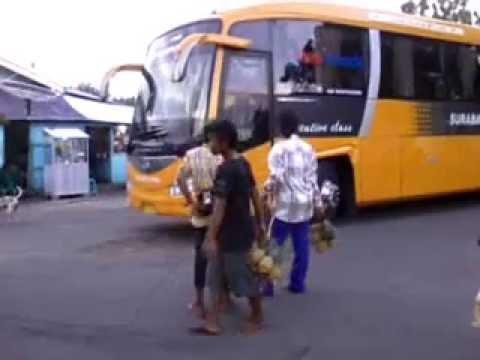 Bus Surabaya Indah Saat Tiba Di Pelabuhan Kayangan