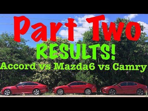 Who Makes The Best Family Sedan Part 2 2018 Camry Vs Mazda6 Honda Accord