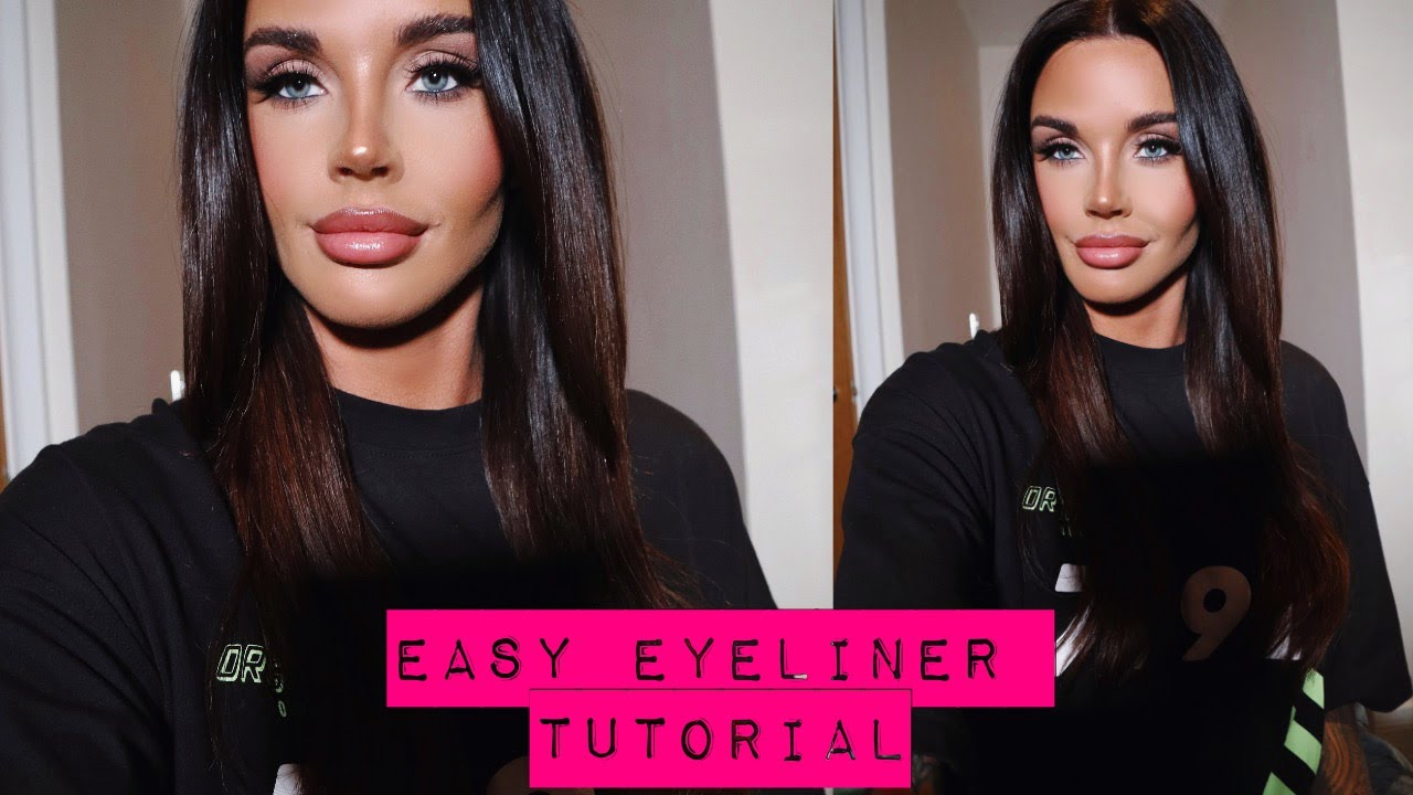 Easy Smokey Winged Eyeliner Tutorial For Beginners - YSL All Hours Foundation
