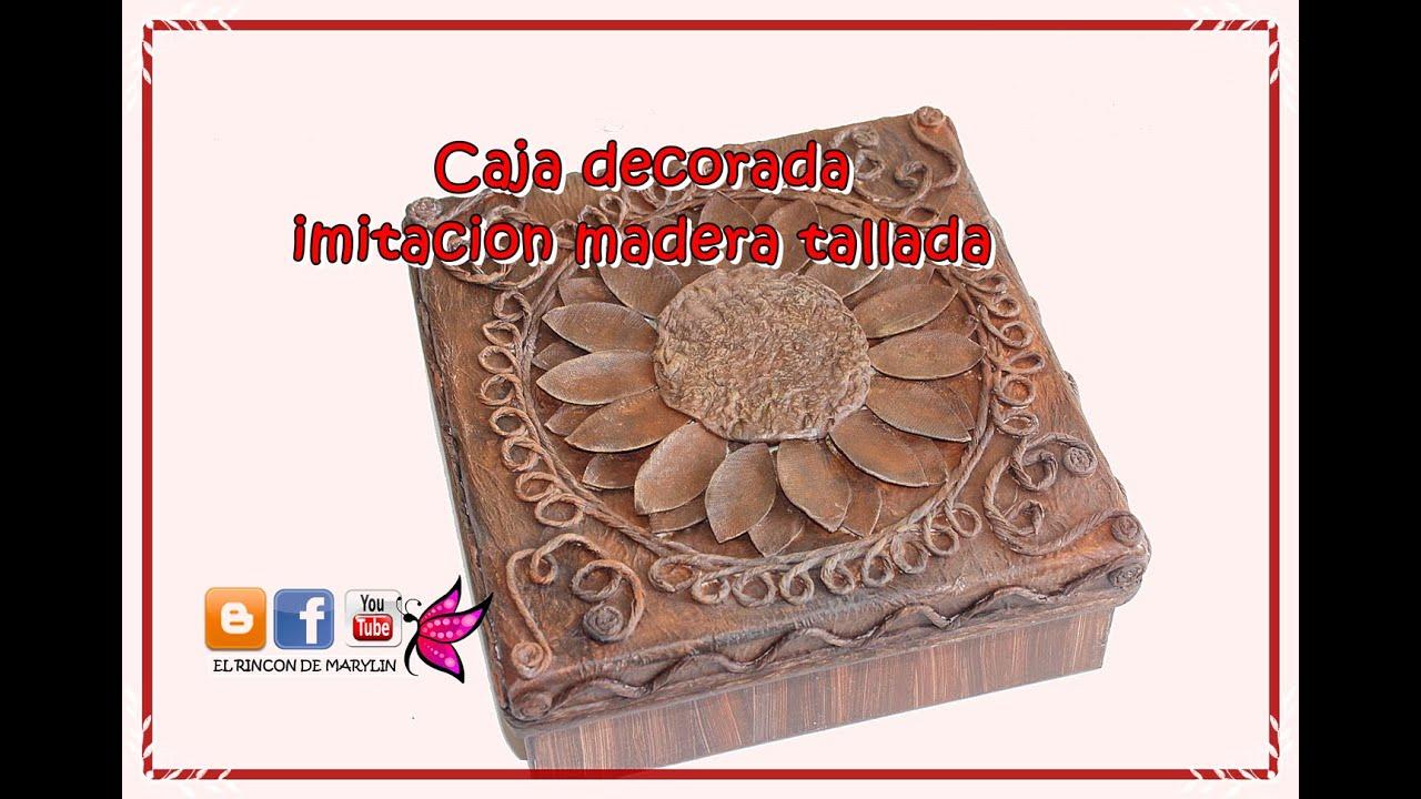 Como decorar una caja de carton con hilo de papel y carton de huevo imitacion madera tallada - Papel de arroz para decorar muebles ...