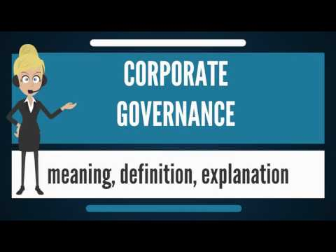 What is CORPORATE GOVERNANCE? What does CORPORATE GOVERNANCE mean? CORPORATE GOVERNANCE meaning