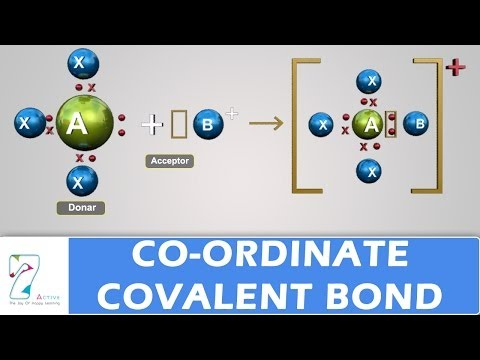 Co-ordinate Covalent Bond