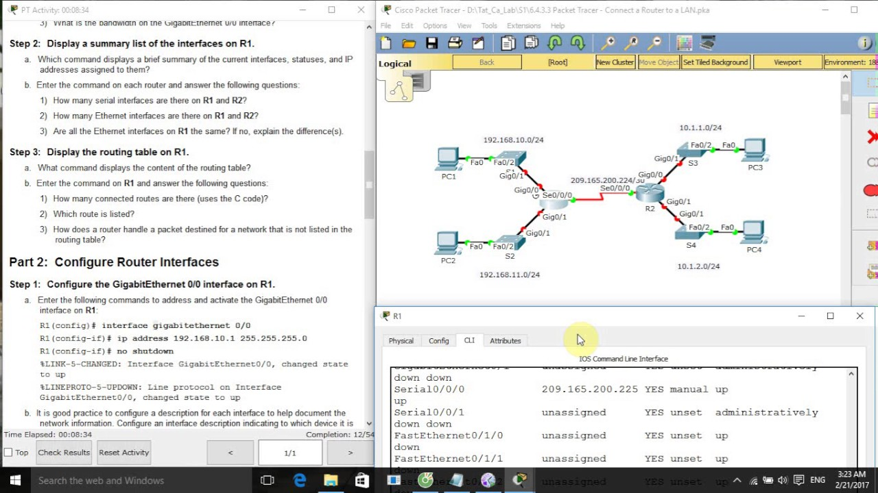Ccna s1 6433 packet tracer connect a router to a lan youtube ccna s1 6433 packet tracer connect a router to a lan keyboard keysfo Images