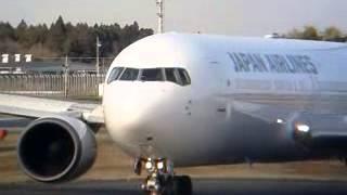 ついに旧SUN ARK から新鶴丸塗装に! JAL B767[JA610 J]まだ艶々☆☆NRT B2