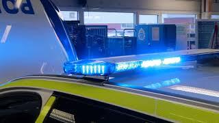 Volvo Polisbil 2018 blåljus tak