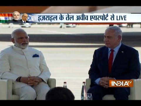Benjamin Netanyahu welcomes PM Narendra Modi as he arrives in Israel on historic visit