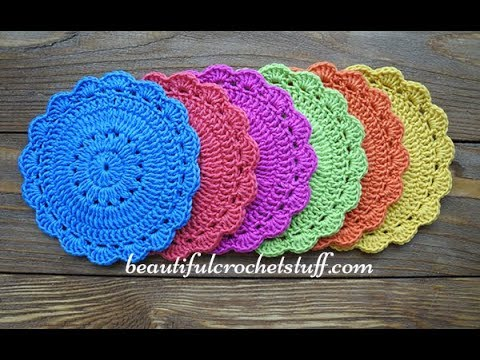 Easy Crochet Pattern For Beginers Crochet Coaster Youtube