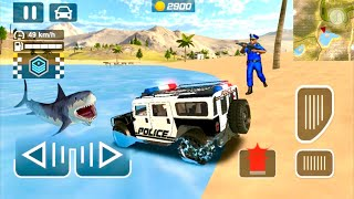 Water Shark Vs Cop Police Car #7 - Police Car Chase Driving Simulator - Best Android Gameplay screenshot 3