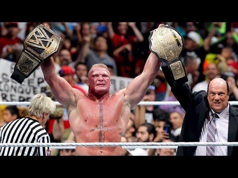 WWE SummerSlam 2014: Brock Lesnar wins WWE World ...