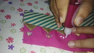 Kurti neck design cutting and stitching in hindi/ kameez/blouse neck