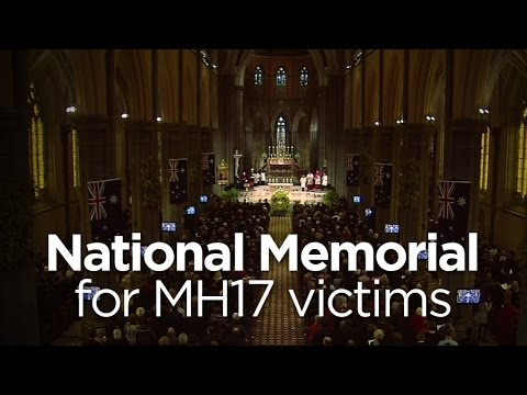 Catholic Archbishop of Melbourne Denis Hart begins the MH17 memorial
