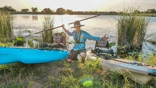 Pond Fishing THICK GRASS  with New Paddle Kayaks!