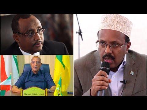 Farmaajo oo sheegay inay iskudayeen Joojinta dagaalka Somaliland iyo Puntland ee Gobolka Sool