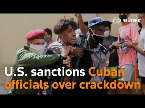 U.S. sanctions Cuban officials over protest crackdown