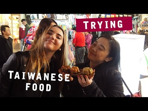 TRYING THE TAIWANESE FOOD !