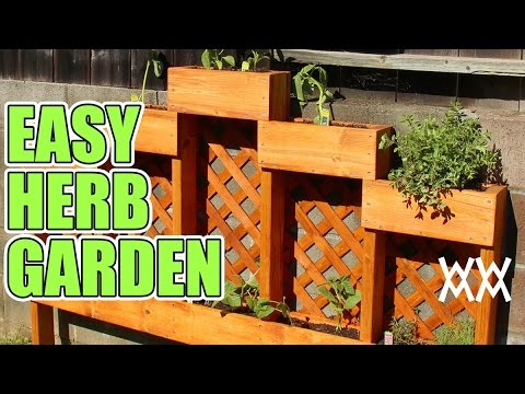 Easy DIY Herb Garden. You Can Make This Planter In An Afternoon.