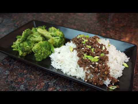 Korean Ground Beef and Rice  | Quick & Easy |