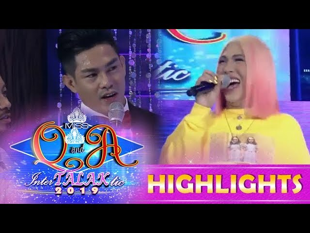 It's Showtime Miss Q & A: Vice Ganda teaches Ion how to properly say 'orange'