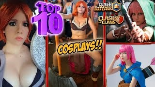 ¿¿CÓMO SE VEN LOS PERSONAJES DE CLASH ROYALE Y CLASH OF CLANS EN LA VIDA REAL?? | TOP 10 COSPLAYS