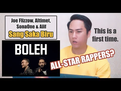 [REACTION] Joe Flizzow, Altimet, SonaOne & Alif - Sang Saka Biru [Official Lyric Video]