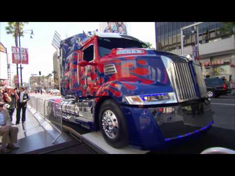 Optimus Prime and Peter Cullen Imprint Ceremony